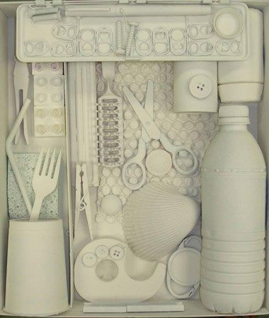 """Art Ed Central loves this celebration of Earth Day,""""junk"""" to recycle into a Louise Nevelson style box sculpture."""