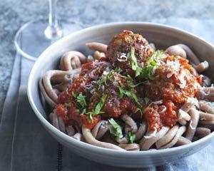 Spicy pork meatballs  By: Bill Granger From: Bill's Tasty Weekends