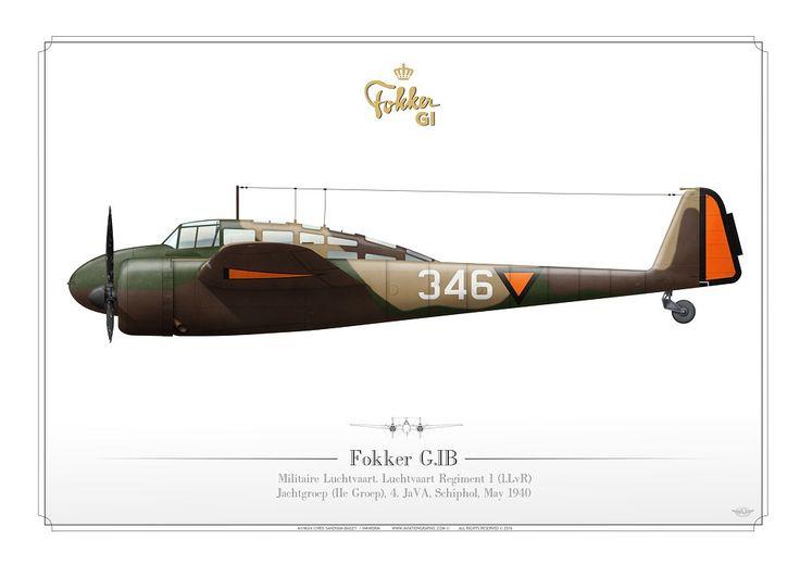 ROYAL NETHERLANDS AIR FORCE (WW2)Militaire Luchtvaart. Luchtvaart Regiment 1 (1.LvR) Jachtgroep (IIe Groep), 4. JaVA, Schiphol, May 1940