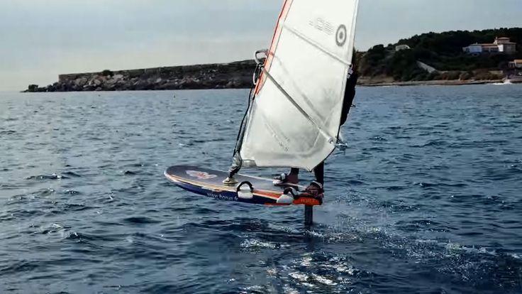 Foil Magazine, supfoil, kitefoil, surffoil, windfoil, hydrofoil Tutoriel vidéo Horue windsurf foil, le take of