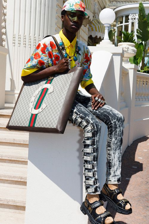 0766613008711b Gucci Cruise 2019 Menswear Lookbook Fashion Clothing Martin Parr Cannes  Sneakers Sandals Sega Release Details Information First Look Chateau  Marmont Memento ...