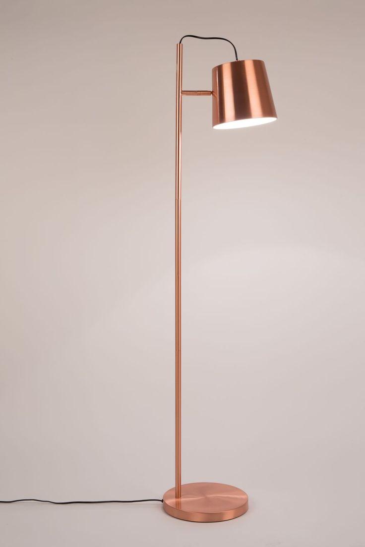 Buckle head vloerlamp koper - Zuiver