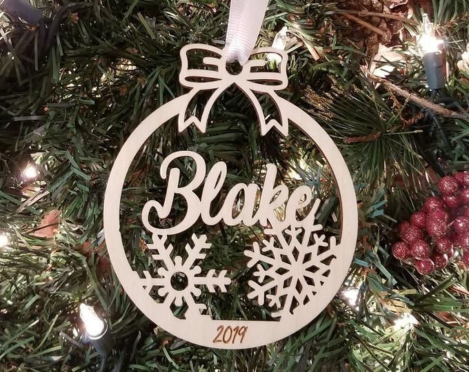 Personalised Name Christmas Star Tree Decoration Hanging Wooden Star Xmas Dec Custom Any Name On Wood Hung Christmas Crafts Wooden Stars Christmas Ornaments