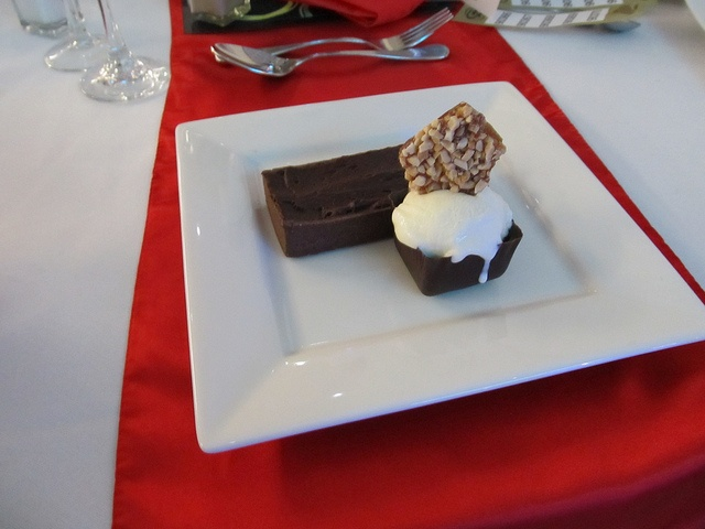 Sportspersons luncheon, via Flickr.  #events  Belgian chocolate tart, salted caramel and peanut ice cream