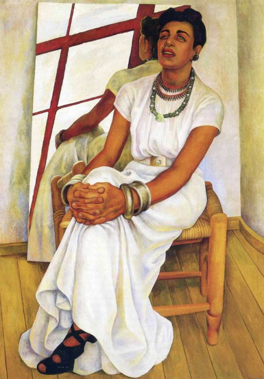 Diego Rivera, Portrait of Lupe Marin. See The Virtual Artist gallery: www.theartistobjective.com/gallery/index.html