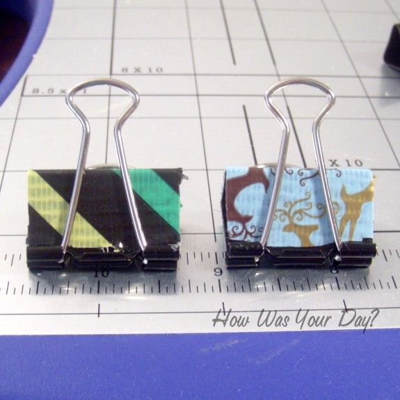 duct tape binder clips 3 575 x 576 Decorated Binder Clips are Fun Duct Tape Crafts