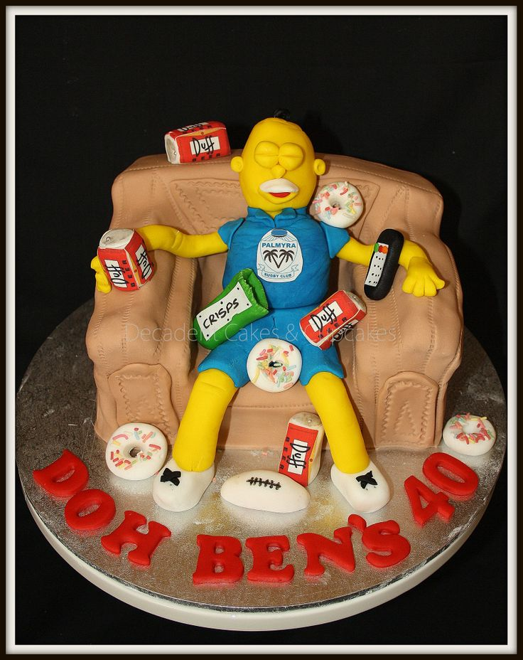 <3 Homer Simpson Cake <3 Made By Decadent Cakes & Cupcakes