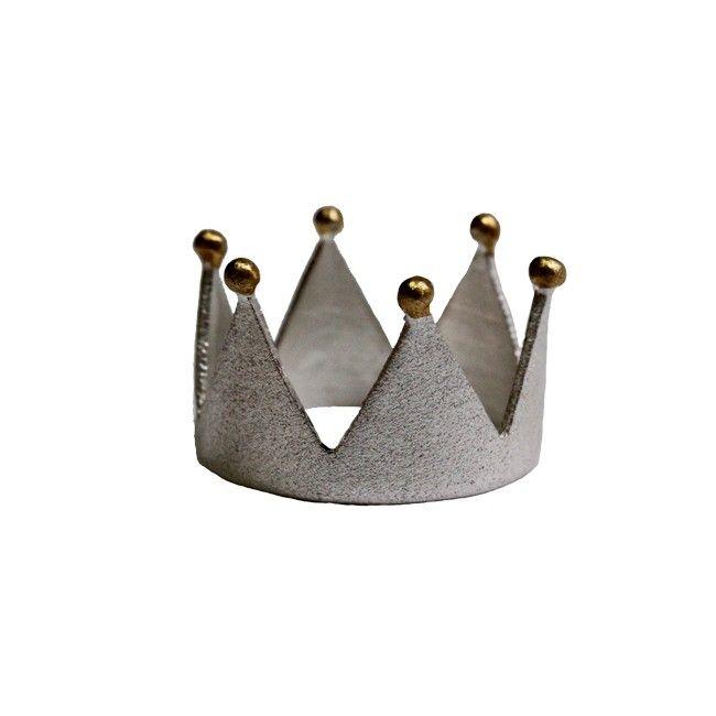 Ασημένιο δαχτυλίδι κορώνα - Κοσμήματα - Products - Γυναικα