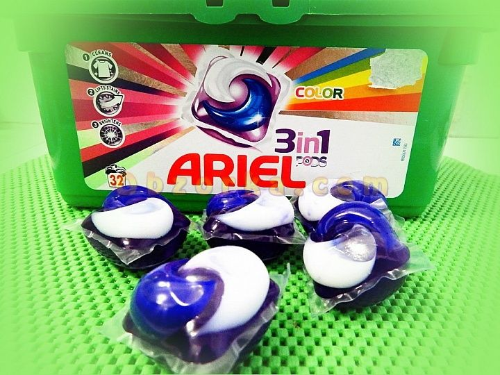 Ariel pods 3d1 - чистое белье и экономия пространства в ванной комнате