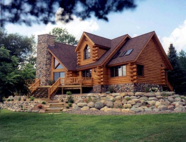 Best 20 modern log cabins ideas on pinterest log homes for Stone log cabin