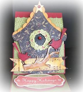 Purtty Paperz: Stretch Your ImaginationBirdhouses, Christmas Cards, Cricut Christmas, Cricut Cards, Birds Cards, Purtti Paperz, Cards Christmas Cardinals, Cards Inspiration, Cards Christmase Cardinals