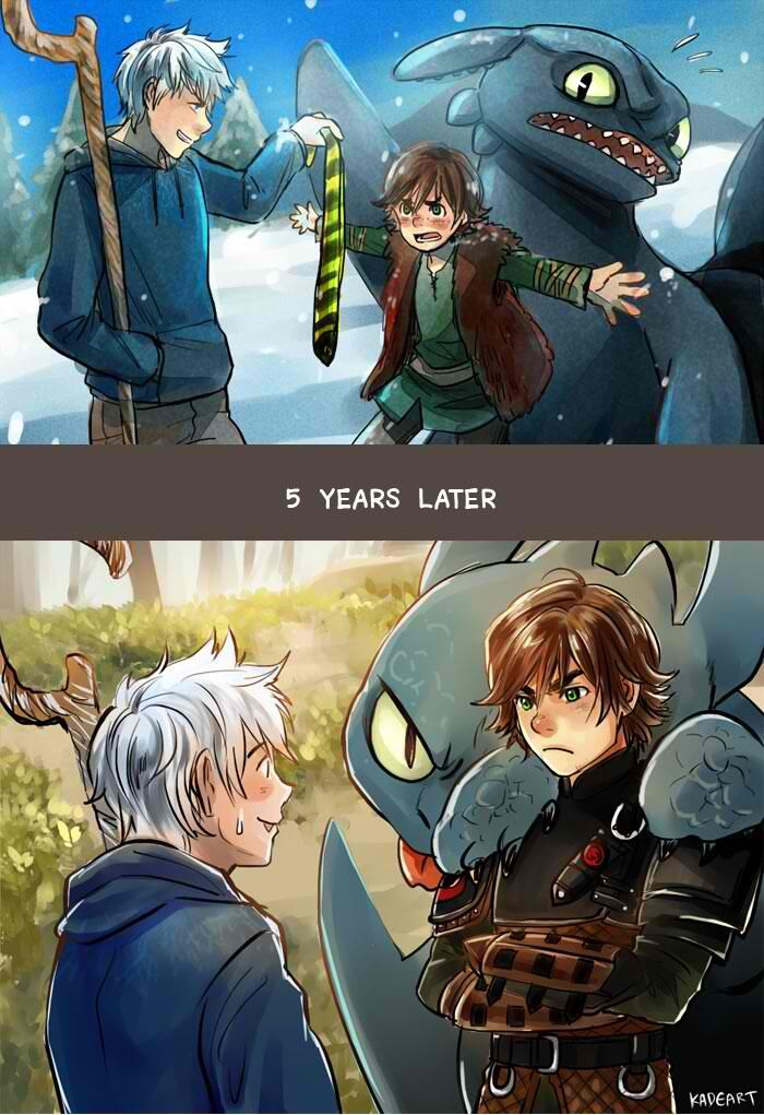 Haha, Hiccup's just a bit taller now, Jack.