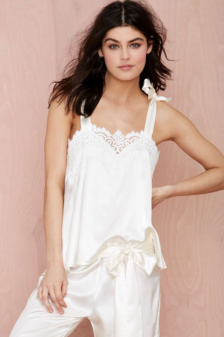 SKIVVIES Nighty Night Satin Blouse | Shop What's New at Nasty Gal