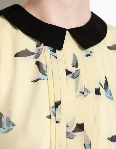 CONTRASTING COLLAR DRESS - Dresses - Woman - ZARA United Arab Emirates