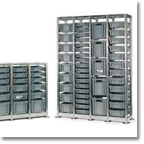 Gli scaffali industriali Fami Storage Systems, sono componibili in svariate soluzioni, sfruttando al massimo lo spazio in altezza con più ripiani