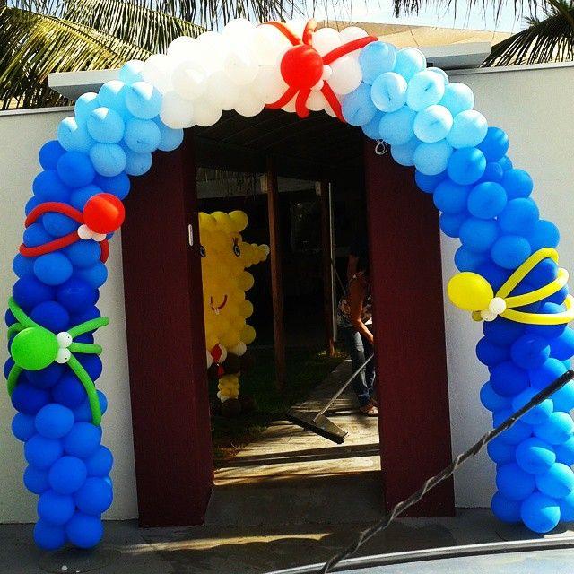 Arco de entrada,festa Bob esponja