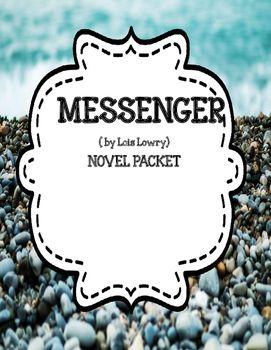 Messenger by Lois Lowry - Novel Unit Bundle 20% off for 48 hrs