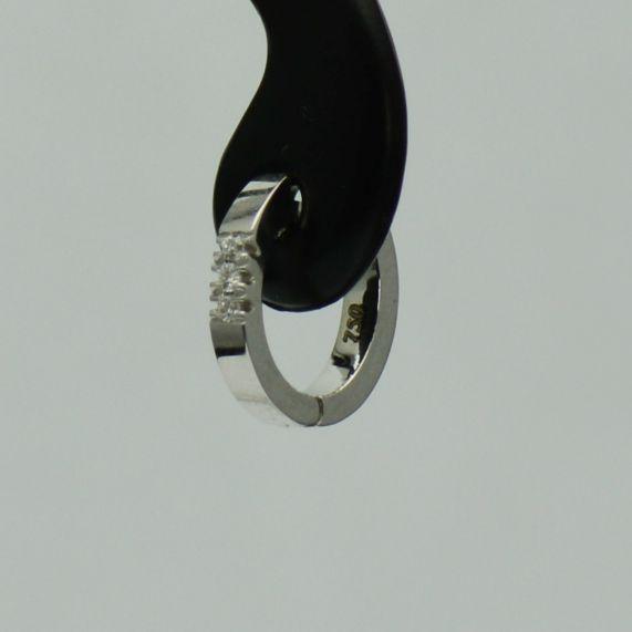 Cercei bebelusi aur alb 18k cu diamante #diamante #cerceicudiamante #cerceidiamant #diamondsearrings #diamonds