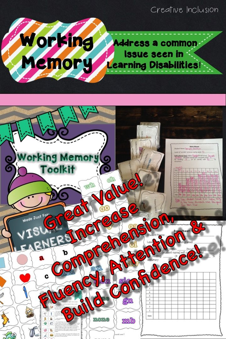 This package is designed to be engaging and fun for students, while increasing their working memory span. Working memory has a huge impact on a number of academic content areas as well as attention span. Takes about 10-15 minutes a day! Progress Monitoring page is included as well as a step by step instruction guide! Quick, Easy, Effective and FUN! $