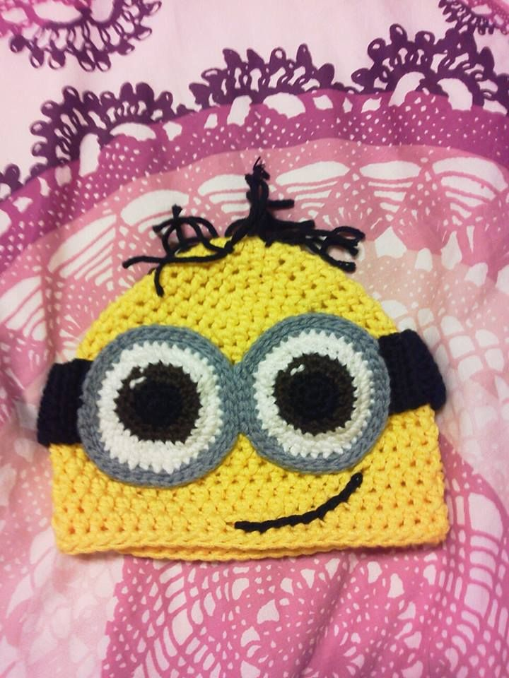 Knitting Pattern For Minion Beanie : 17 Best images about Crochet Food & Fun on Pinterest Free pattern, Croc...