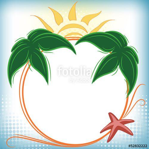 Summer holidays frame