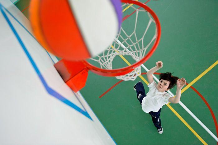 Нестандартные ракурсы при фотосъёмке детей на физкультурных занятиях