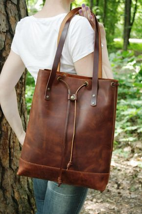 Leather bag. Handmade. leather tote bag, women leather bag ...