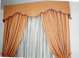 Resultado de imagen para modelos de cortinas para salas con cenefas  lisas