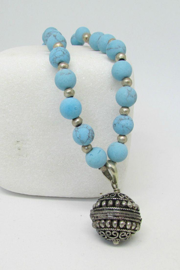 Long Ethnic Necklace,Tibetan Pendant