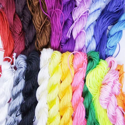 25M Nylon Cord Thread Chinese Knot Macrame Rattail Bracelet Braided String 1mm