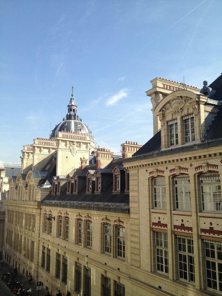 La Sorbonne depuis le Grand Hôtel St. Michel - Paris - 7 mars 2014