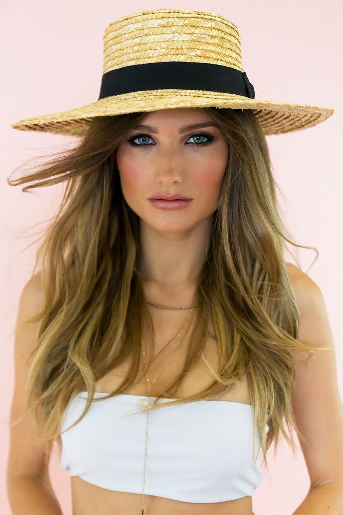 Theo Flat Straw Hat - Natural