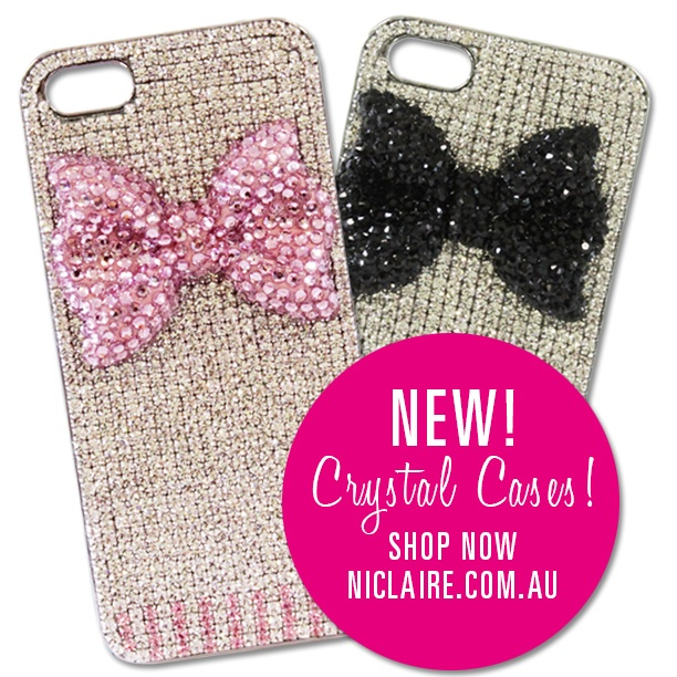 Shop these new gorgeous crystal cases! http://www.niclaire.com.au/category/72-iphone-accessories.aspx