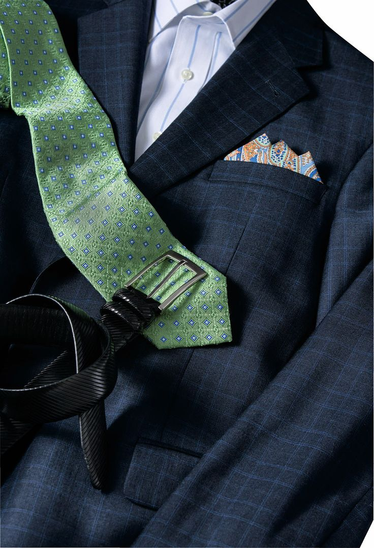 Jos A Bank  Stuyvesant Plaza  A Green Tie Is A Great Way To Add Spring  Color To Your Navy Suit Or Sportcoat