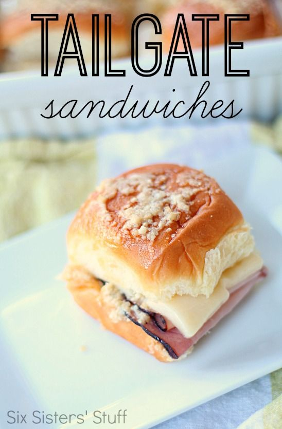 Tailgate Party Sandwiches from SixSistersStuff.com.  The perfect sandwich to enjoy during the big game!  They are amazing! #sixsistersstuff
