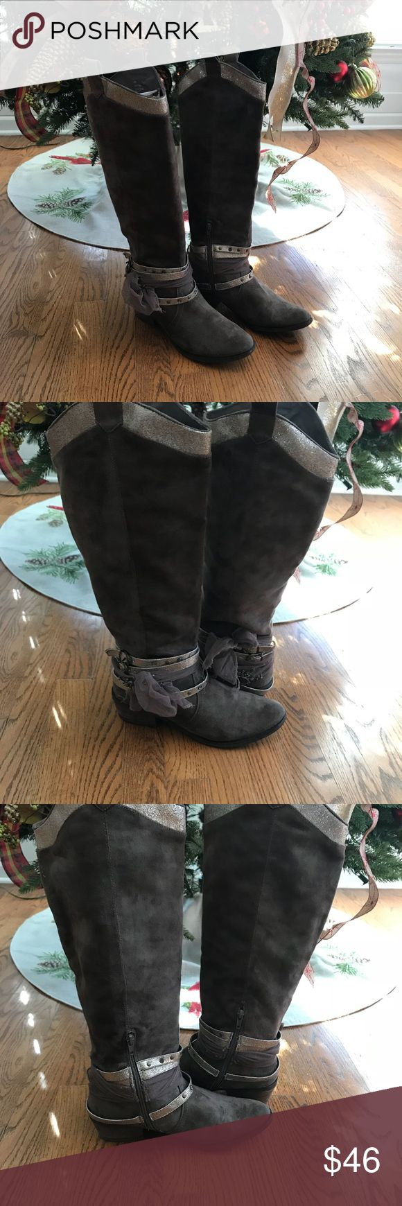 Not Rated Riding Boots Not Rated Brown Decorative Ankle Riding Boots Size 8.5 Not Rated Shoes Heeled Boots