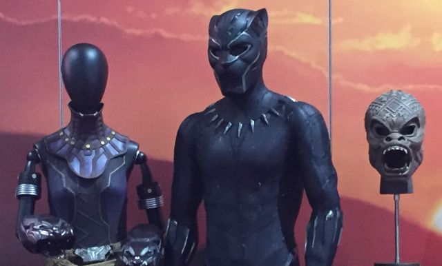 Black Panther Costumes on Display at Comic-Con   Black Panther Costumes on Display at Comic-Con  Marvel Studios has made a little addition to their booth at San Diego Comic-Con and put some of the costumes from the upcoming Black Panther on display! Check out theBlack Panther costumes in the gallery below!  RELATED: Black Panther Origins and Evolutions  Chadwick Bosemanstars in the film as TChalla along with Michael B. Jordanas Erik KillmongerLupita Nyongoas NakiaDanai Guriraas Okoye Daniel…
