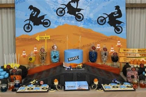 Image result for dirt bike party ideas