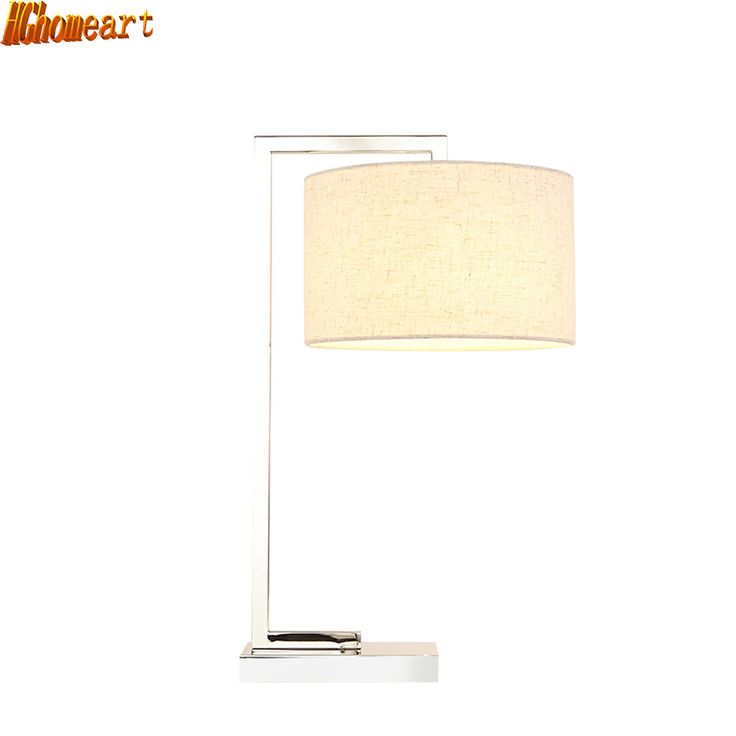 HGhomeart Fashion Stainless Steel Lamp Modern Simple Creative Desk Lamp Bedroom Bedside Lamp Living Room Decoration Table Lamp #Affiliate