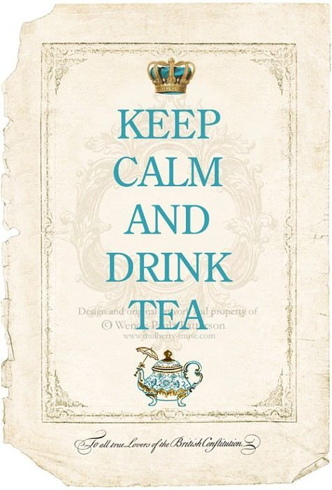 Afternoon tea? - The perfect motto that describes what a cup of tea can do for you - to unwind and relax!
