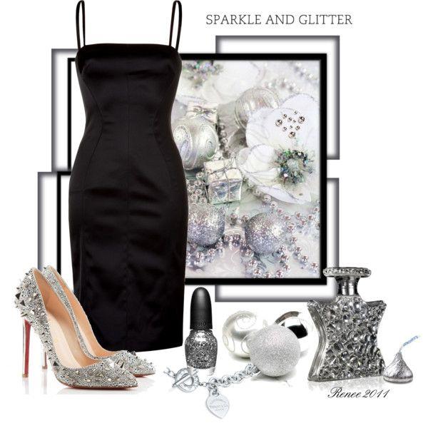 Sparkles AND a little black dress? Shut. Up.: Holidays Parties, Dreams Closet, Style, Dresses Up, Obsession Clothing, Holidays Sparkle, Little Black Dresses, Fallwint Fashion, Polyvore Fashion