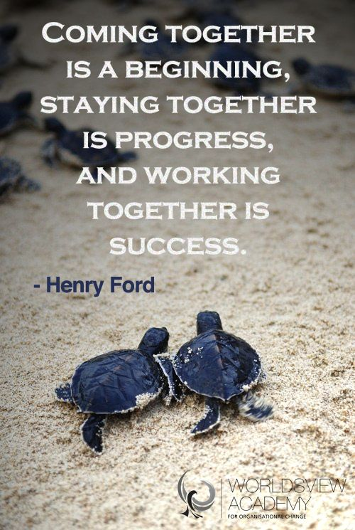 Henry Ford's down-to-earth perspective on working together. #quote #teams