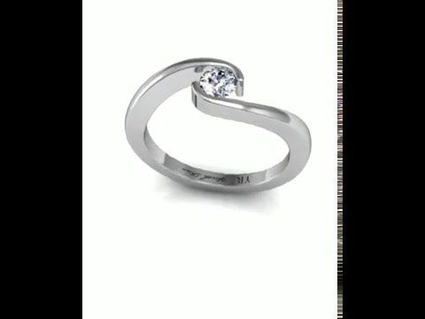 Engagement Ring 05. White Gold.