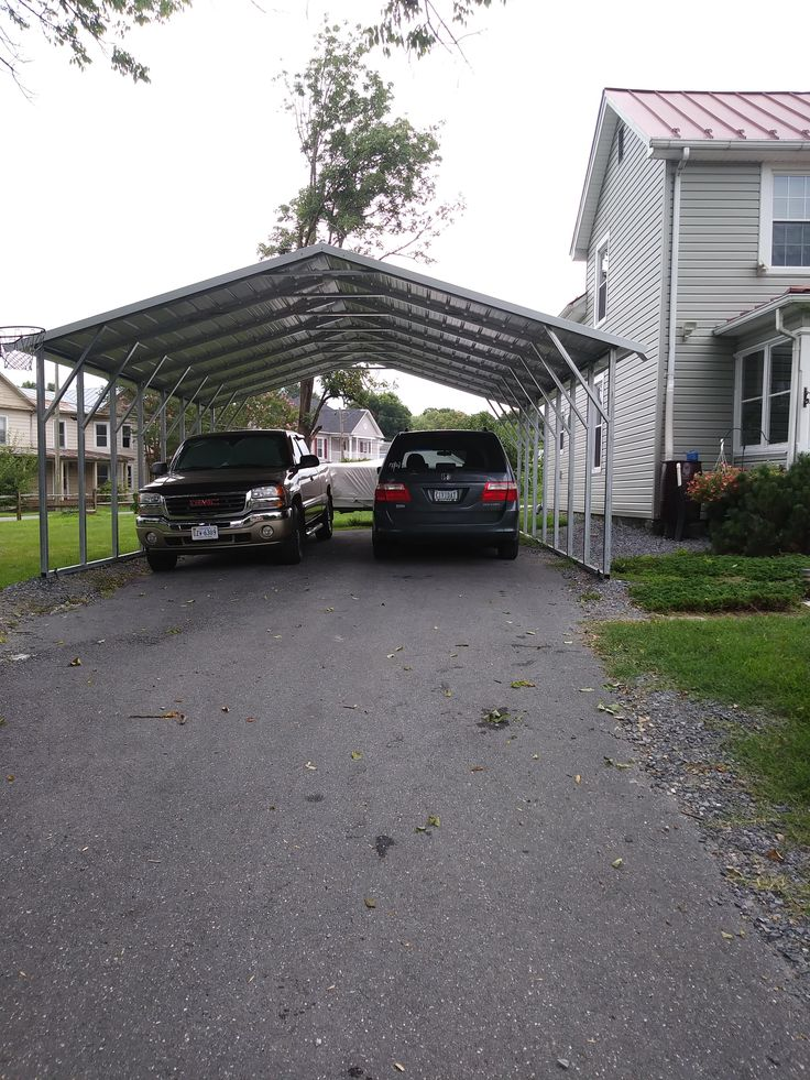 20x26 boxed eave style metal carport Alan's Factory