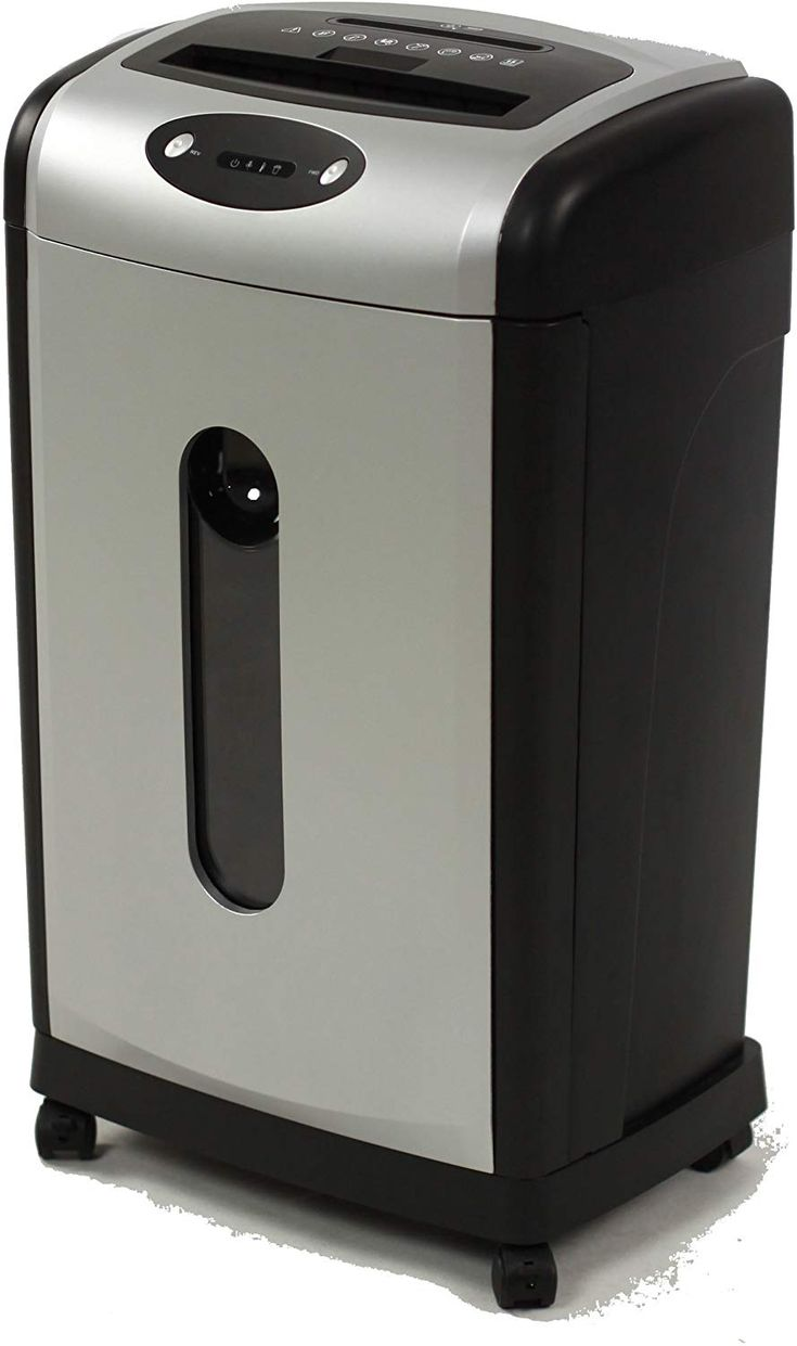 Multi-functional high quality 18 Sheets Cross Cut Paper ShredderAccepts paper, CD/DVD, Staples and Credit CardsCross cut size: 4mm x 44mm (Security Level 3); Auto reverse on jamsSpeed (Feet Per Minute ): 8.5, 7.4 Gallon bin; Auto Start/StopQuiet Motor- Noise Level (db.) 58; Casters included for easy mobility#paperShredder #BestPaperShredder #CrossCutPaperShredder #MicroCutPaperShredder #Shredder