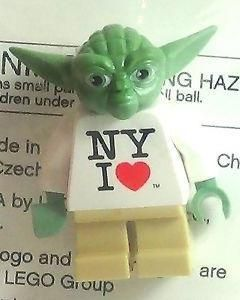 This New York I Love Yoda Times Square Lego minifigure was a Times Square Toys R Us Exclusive making him a doubly attractive minifigure because of his Star Wars and New York City connections. #ck15 #minifigures