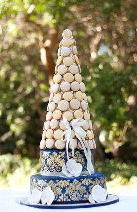 dessert, embellishments, cake stand, cake topper, cake, fondant, rustic, multi-tier, round, beige, Macaroon, modern , navy blue, wedding cakes, Spring, cultural, Los Altos Hills, California