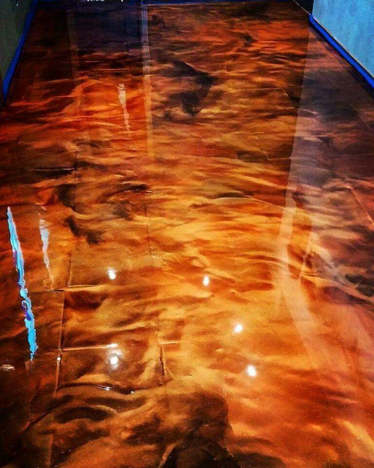 Metallic Epoxy Granite BrassCopper Metallic Epoxy Floors Pinterest Epoxy Granite And
