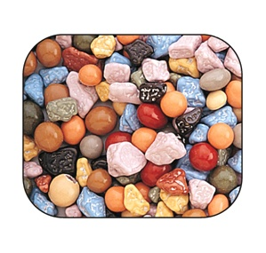 Chocolate Rocks - Nuggets: 5LB Bag for $29.50.  Would be fun at a kids dinosaur themed party.