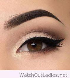 Perfect eyeliner and eyebrow